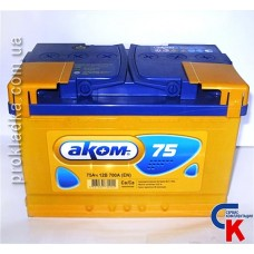 Аккумулятор Akom (Аком) 6СТ - 75