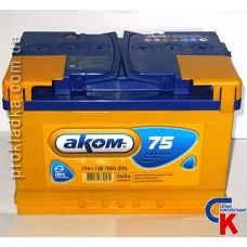 Аккумулятор Akom (Аком) 6СТ - 75 Евро