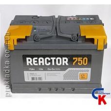 Аккумулятор Reactor (Реактор) 6СТ - 75 Евро